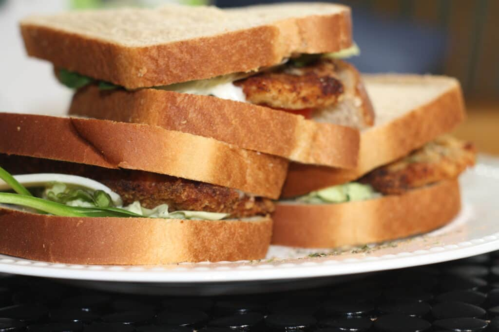 Chicken Cutlet Sandwiches on a plate