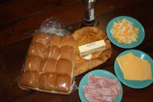 Garlic Infused Ham & Cheese Sliders