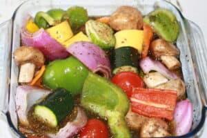Let's make veggie kabobs!