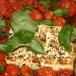 TikTokFeta with Tomatoes drizzled with olive oil and oregano