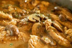 Chicken Marsala up close