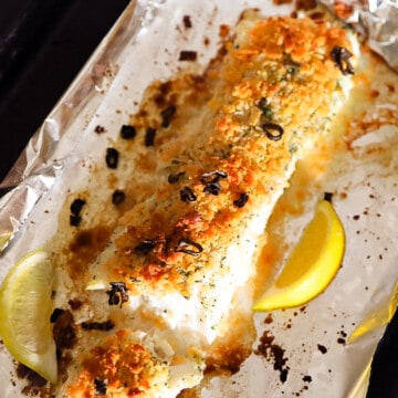 Baked Ritz Cracker Cod Fish