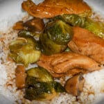 Teriyaki Chicken and Brussels Sprout Stir Fry