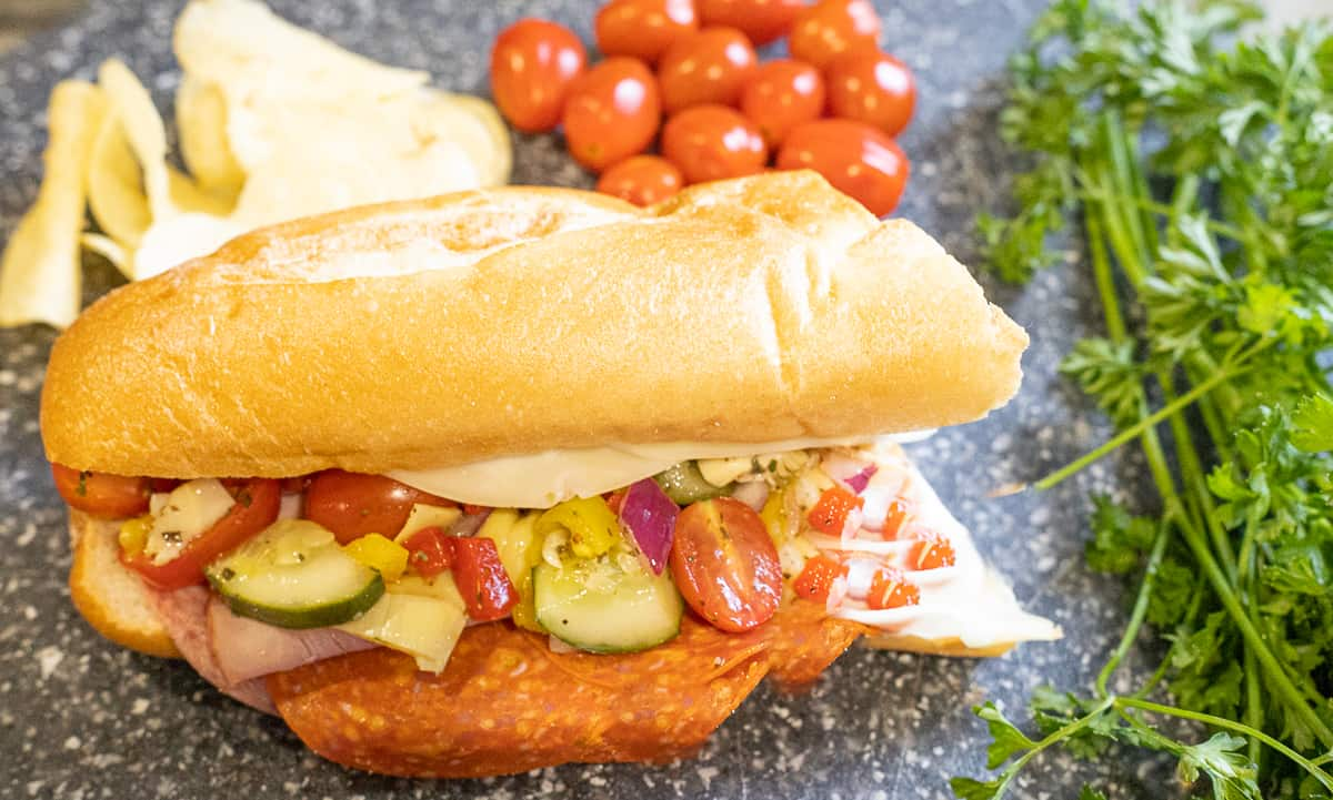 Hoagie Sandwich with all the toppings