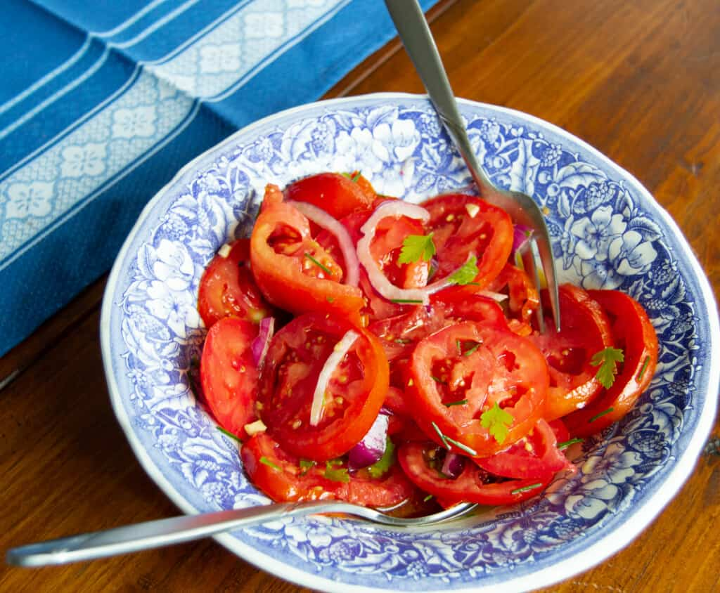 THe best recipe for garden tomatoes